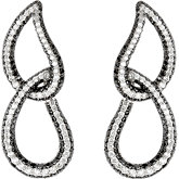 2 3/4 ct tw Black & White Diamond Earrings
