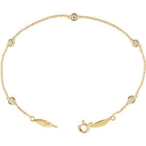 14K Yellow 1/3 CTW Diamond Bracelet
