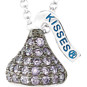 Sterling Silver February HERSHEYS KISSES Aubic Zirconia 1