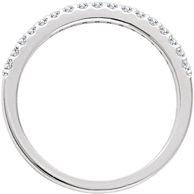 14K White 1/6 CTW Diamond Band for 5.8mm Round Ring