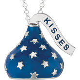 HERSHEY'S KISSES Blue Enamel & Stars Necklace