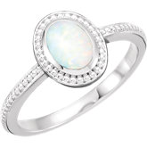 Oval Cabochon Opal Ring or Mounting