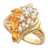 Ring Mounting for Marquise Gemstones