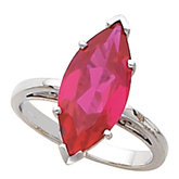 Scroll Setting® Design Ring Mounting for Marquise Shape Gemstone