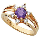 Ring Mounting for 5.5 mm Round Gemstone Center