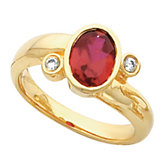 Bezel-Set Ring Mounting for Oval Gemstone