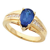 Ring Mounting for Pear Shape Gemstone
