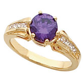 Ring Mounting for Round Gemstones