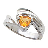 Ring Mounting for Trillion Shape Gemstone