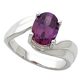 Ring Mounting for Oval Gemstone Solitaire