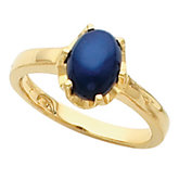 Ring Mounting for Round Cabochon Gemstone Solitaire