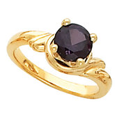 Ring Mounting for 7.0 mm Round Gemstone Solitaire