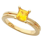 Solitaire Ring Mounting for Princess - Cut Gemstone