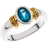 Beaded Bezel-Set Ring for Oval Gemstone