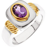 Bezel-Set Ring for Oval Gemstone