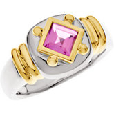 Bezel Set Ring for Square Gemstone