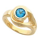 Bezel-Set Ring Mounting for Round Gemstone Solitaire
