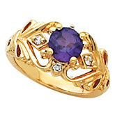 Openwork Ring Mounting for 6.5 mm Round Gemstone Center