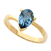 Ring Mounting for Pear Shape Gemstone Solitaire