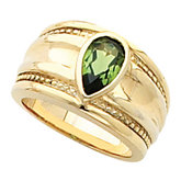 Bezel-Set Ring Mounting for Pear Shape Gemstone