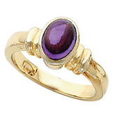 Ring Mounting for Oval Cabochon or Faceted Gemstone
