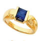 Solitaire Ring Mounting for Channel Set Princess - Cut Gemstone