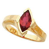 Ring Mounting for Marquise Gemstone