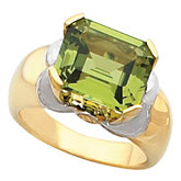 Ring Mounting for Emerald Cut Gemstone