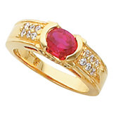 Oval Color Fashion Ring