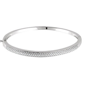 14K White 1 CTW Diamond Pave' Bracelet