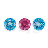 Genuine Pink Tourmaline and Paradise Blue Passion Topaz Layout