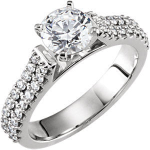 Diamond Cathedral Engagement Ring, Base or Band