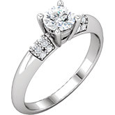 Diamond Semi-mount Knife Edge Engagement Ring or Mounting