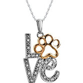 Tender Voices® Love Animal Paw Print Necklace