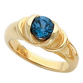 Ring Mounting for 6.0 mm Round Gemstone Solitaire