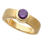 Bezel-Set Ring Mounting for 6.0 mm Round Gemstone