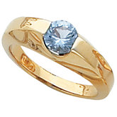 Channel-Set Ring Mounting for 6.0 mm Round Gemstone Solitaire