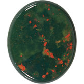 Oval Genuine Bloodstone