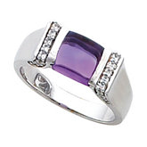 Fashion Ring for Channel-Set 7.0 mm Square Gemstone