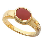Ring Mounting for Oval Cabochon Gemstone