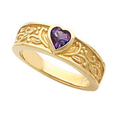 Bezel Set Ring Mounting for Heart-Shape Gemstone