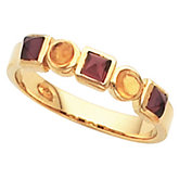 Bezel-Set Ring for Square and Round Cabochon Gemstones