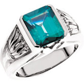 Ring Mounting for Emerald Shape Gemstone