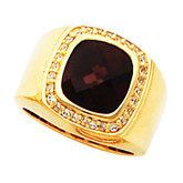 Accented Bezel Ring Mounting for Antique Center