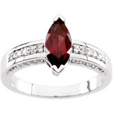 Ring Mounting for Marquise & Round Shape Gemstones