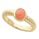 Ring Mounting for  Round Cabochon Gemstone