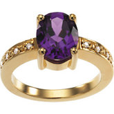 Ring Mounting for Oval & Round Gemstones