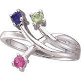 3-Stone Fashion Ring Mounting for Gemstones