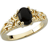 Vintage Style Ring Mounting for Oval Gemstone