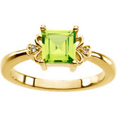 Ring Mounting for Princess - Cut Gemstone
